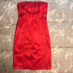 The Limited Bright Red Strapless Dress. Size 6.